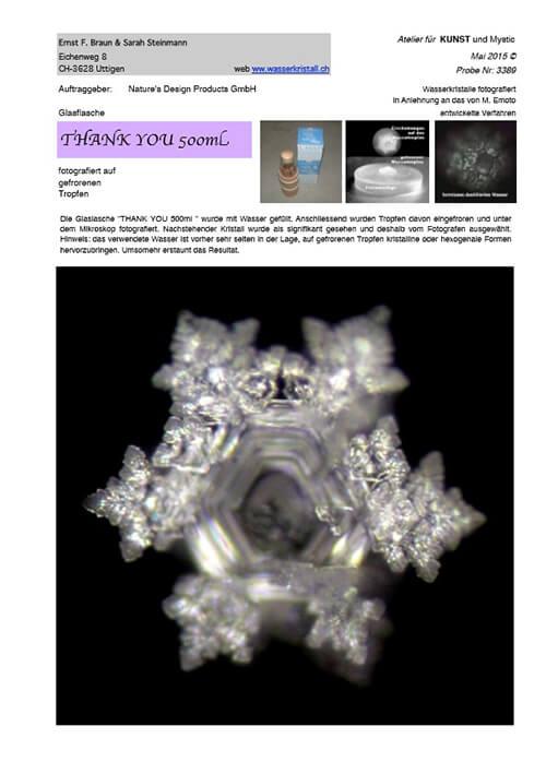 Thank you öko palack 500 ml vízkristály fénykép